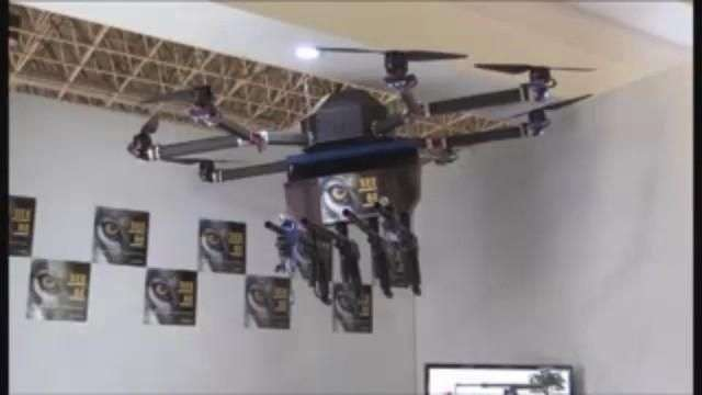 Presentan un dron para controlar manifestaciones a distancia en Brasil
