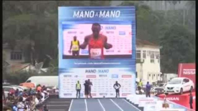 Usain Bolt gana carrera de exhibición en Brasil