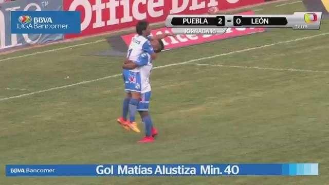 Jornada 16, Puebla 2-0 León, Liga Mx, Clausura 2015