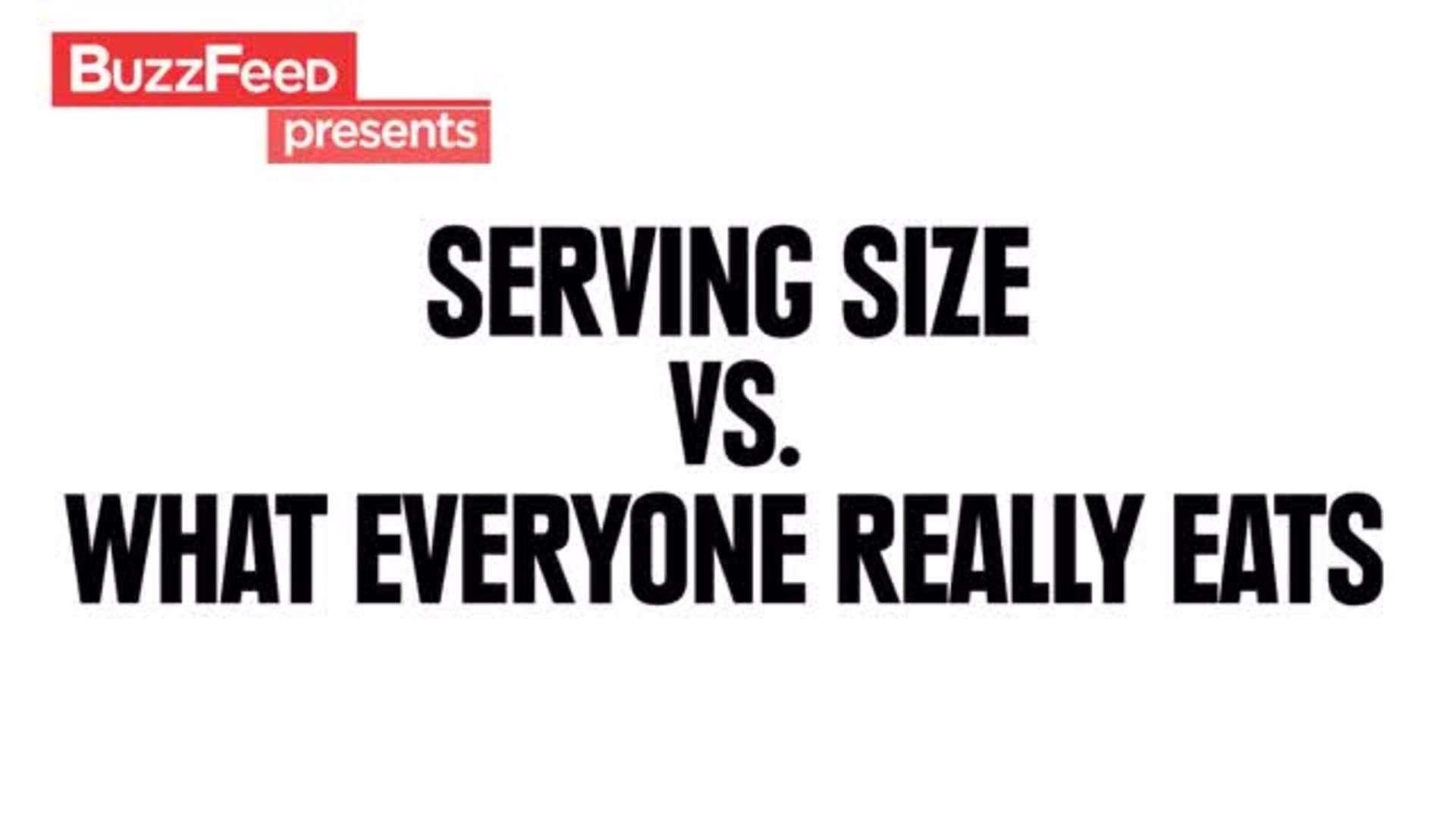 Porciones de comida vs. Realidad