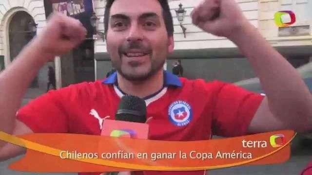 Chilenos confían en ganar la Copa América