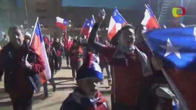 Con fuegos artificiales comenzó la fiesta chilena