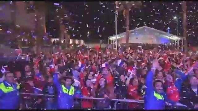 La alegría de la hinchada de Chile tras los penales