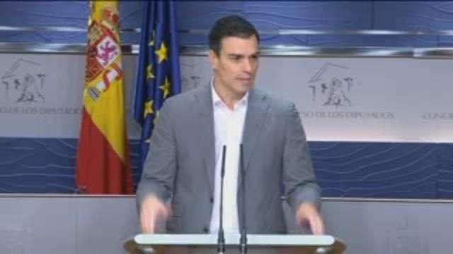 """Pedro Sánchez : Iglesias me ha propuesto una negociación en """"exclusiva y excluyente"""""""