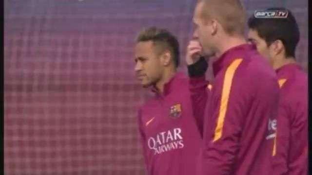 Luis Enrique prepara el partido de Copa del Rey contra el Valencia sin Messi