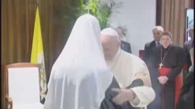 El papa y el patriarca ruso Kiril se encontraron en La Habana