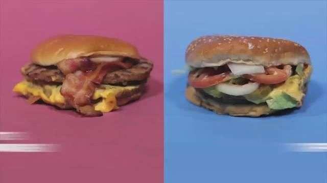 Examen de calorías de comida rápida