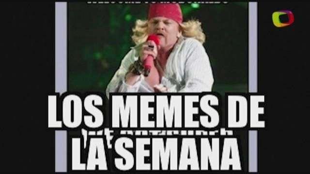 Hoy en los memes de la semana: Axl Rose, Lady Soriana, Copa América y más
