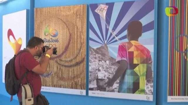 Presentan colección de 13 afiches oficiales de las Olimpiadas de Río