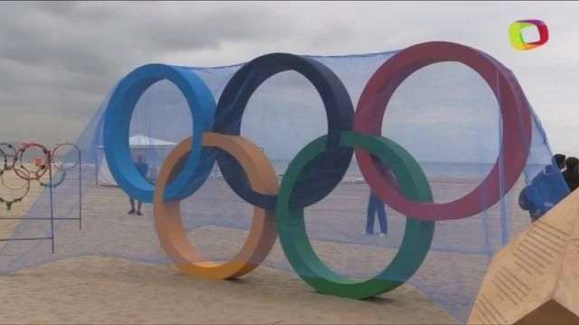 Inauguran escultura ecológica de los anillos olímpicos en Río de Janeiro