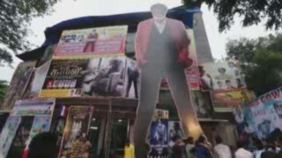 """Euforia en Bombay ante el estreno de la película """"Kabali"""""""