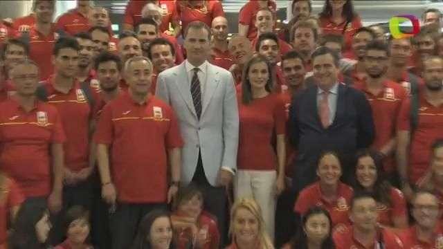 Los Reyes despiden al equipo olímpico español rumbo a Río