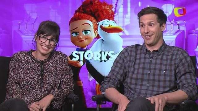 "Andy Samberg y Katie Crown son los traviesos de ""Storks"""
