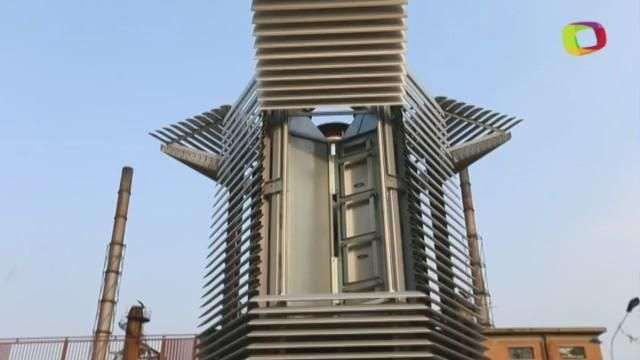 Un purificador gigante para limpiar el cielo contaminado de Pekín
