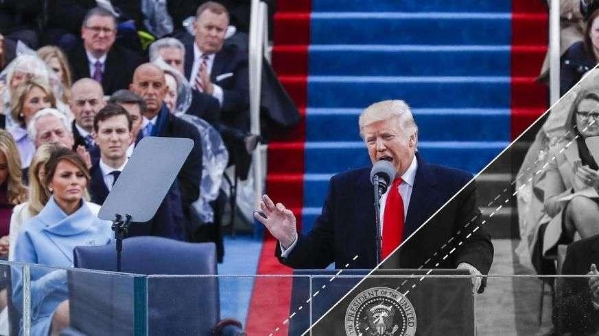 El corto y reciclado discurso de investidura de Donald Trump