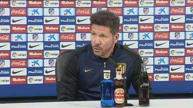 Simeone: No entiendo otra forma de ser campeón que jugando con Madrid o Barça