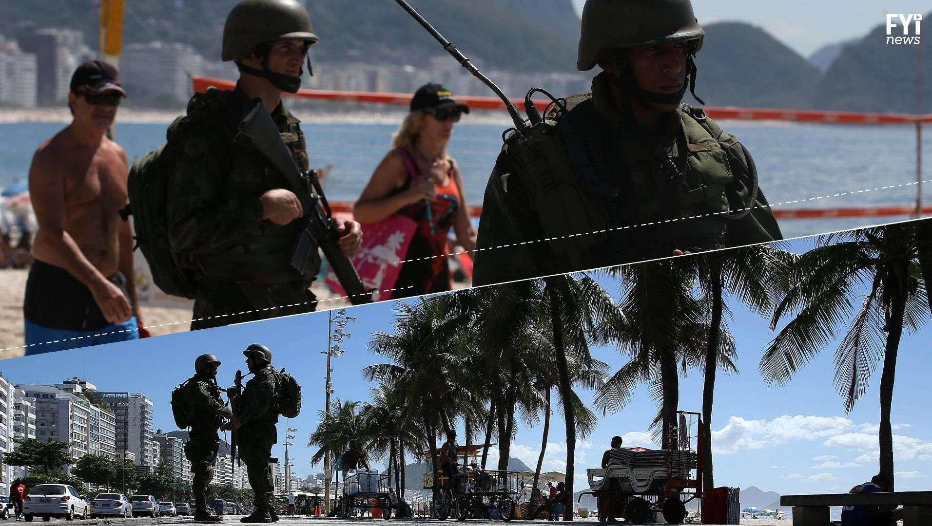 El ejército toma las calles de Brasil para Carnaval