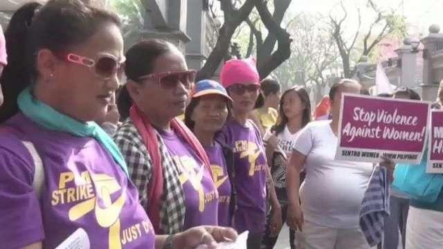 La organización de Mujeres Gabriela marcha a la embajada de EEUU por el Día Internacional de la Mujer