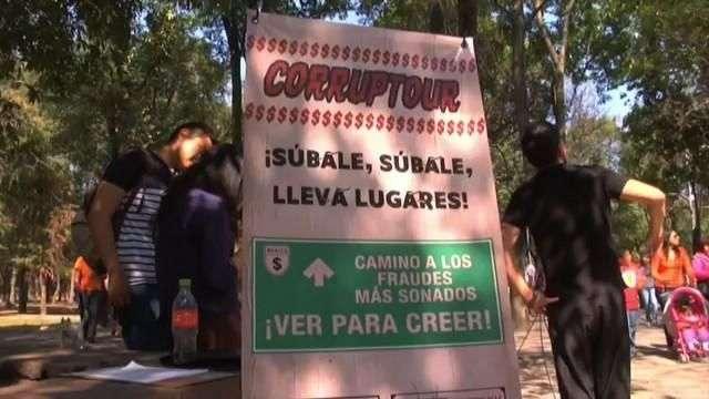 Paseo turístico llama a reflexionar y actuar contra la corrupción en México