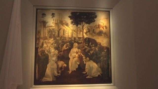 """La obra de Da Vinci """"La adoración de los magos"""" queda más limpia y radiante"""