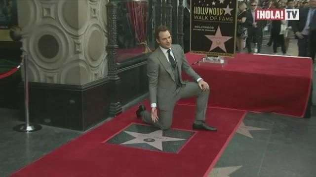 El actor Chris Pratt recibió su estrella en el Paseo de la Fama de Hollywood