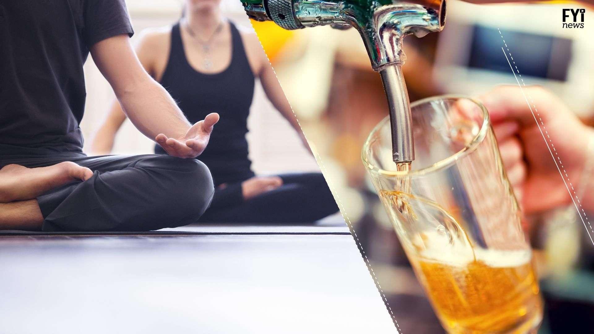 Yoga + cerveza ¿Mejor equilibrio?