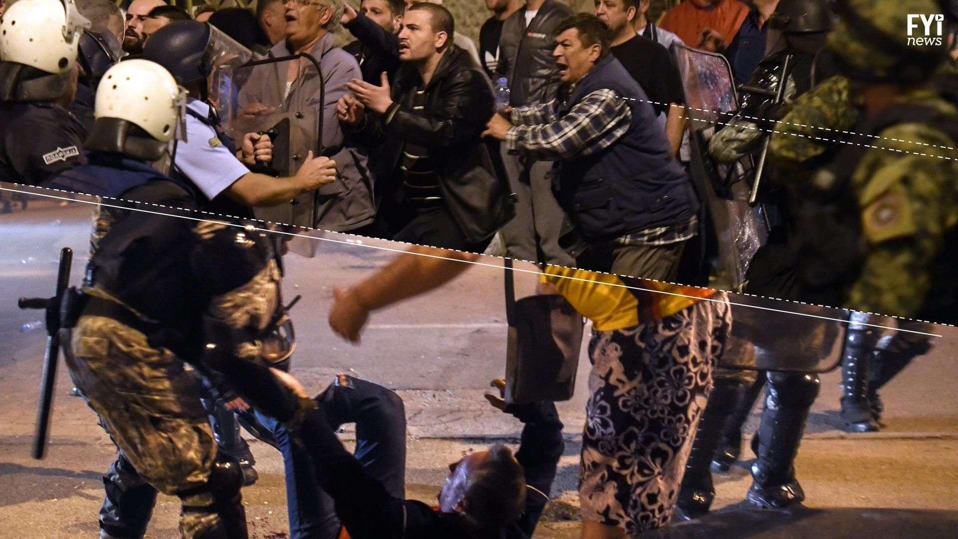 La batalla campal en el parlamento de Macedonia