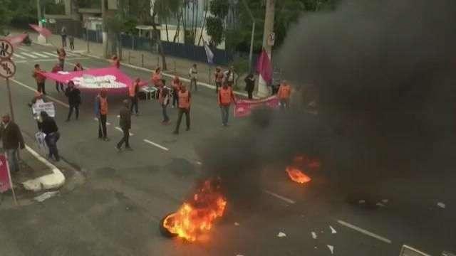 Huelga contra las reformas promovidas por Temer se siente en Brasil