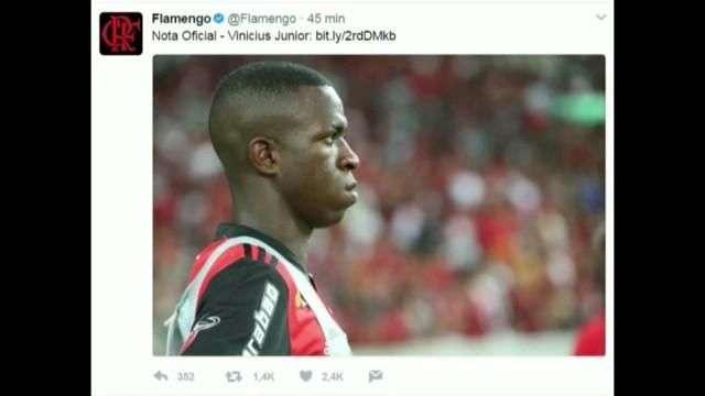 El Flamengo anuncia el fichaje de Vinicius Jr. por el Real Madrid desde 2019