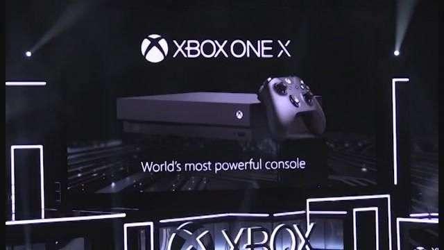 Microsoft presenta la Xbox One X