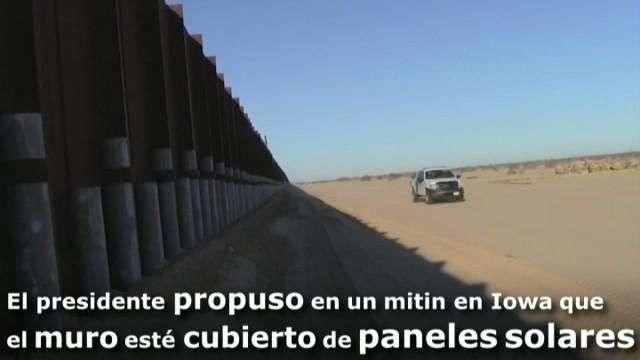 """Trump propone un """"muro solar"""" para que la factura para México sea menor"""