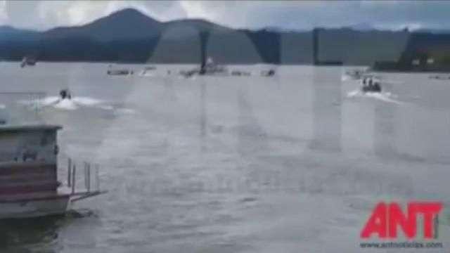 Embarcación con cerca de 150 turistas naufraga en embalse colombiano de Guatapé