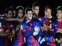 Messi, son and Barça celebrate title (photos)