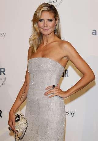 Heidi Klum tiene un sexy tatuaje en el brazo Foto: Getty Images