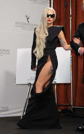 Lady Gaga tiene varios tatuajes en su cuerpo Foto: Getty Images