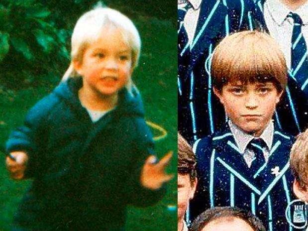 El vampiro soñado de las chicas, Robert Pattinson, en su época de niño rubio en la escuela. Foto: Difusión