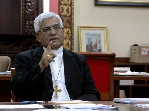 El arzobispo metropolitano de Trujillo, Miguel Cabrejos Vidarte.  Foto: Andina