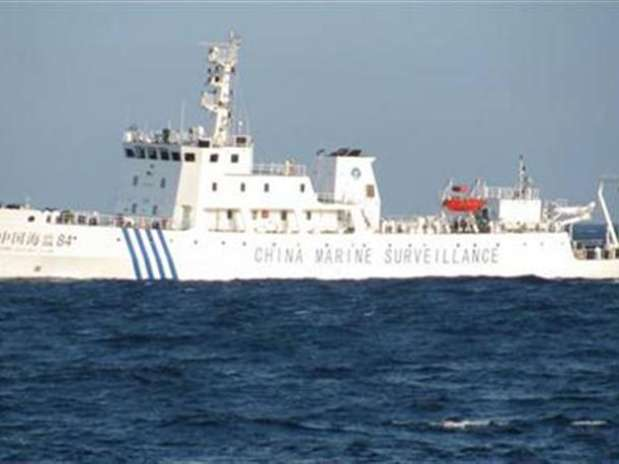 A handout picture of Chinese marine surveillance ship, offshore of Vietnam's central Phu Yen province May 26, 2011 and released by Petrovietnam May 29, 2011.