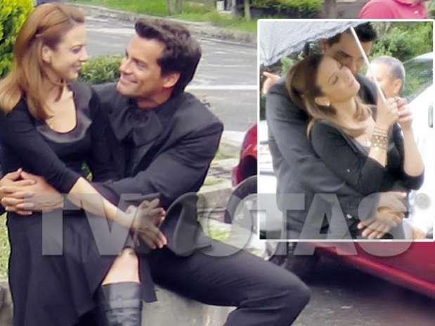 Silvia Navarro y Cristian de la Fuente llevan el romance fuera de la historia de 'Amor Bravío'. Foto: TV Notas
