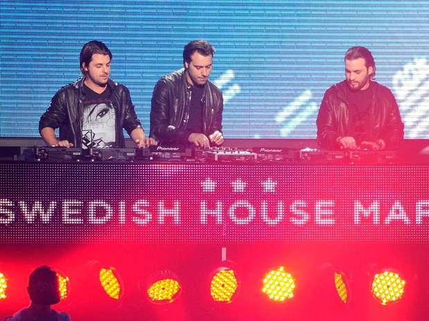 Con sus ganancias de $14 millones de dólares anuales, el trío Swedish House Mafia quedó en tercer lugar. Foto: Getty Images