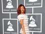 Rihanna en un vestido de Jean Paul Gaultier, en los Grammys de 2011.  Foto: Getty Images