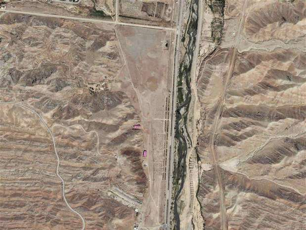 A section of the Parchin military facility in Iran is pictured in this August 22, 2012 DigitalGlobe handout satellite image. This part of the facility has had documented changes in the last year.