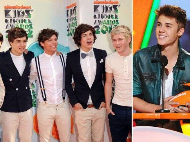 One Direction y Justin Bieber. Foto: Getty Images