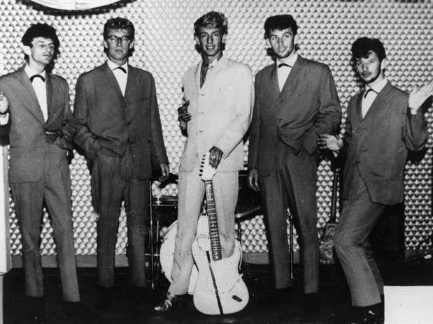 Ringo Starr (al extremo derecho) cuando era baterista del grupo Rory Storm and the Hurricanes, en 1962. Foto: Getty Images
