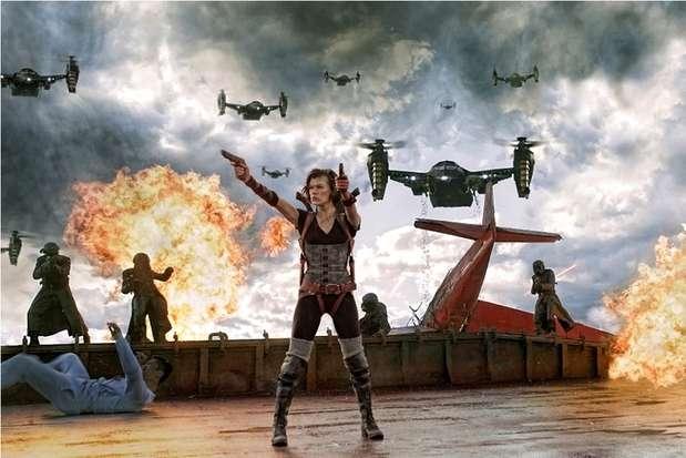 La quinta entrega de 'Resident Evil' tiene una duración real de 1 hora y 57 minutos (117 minutos) pero el director recortó 27 minutos porque éstos eran de solo diálogos, sin embargo, se verán cuando se lance el Bluray de la película. Foto: Divulgación