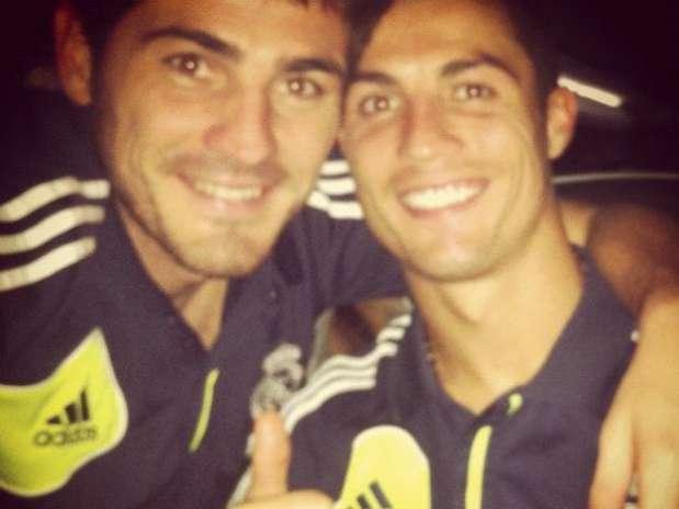 Casillas posteó esta foto en Facebook para despejar rumores sobre una mala relación con Cristiano Foto: Reproducción/ Facebook oficial Iker Casillas