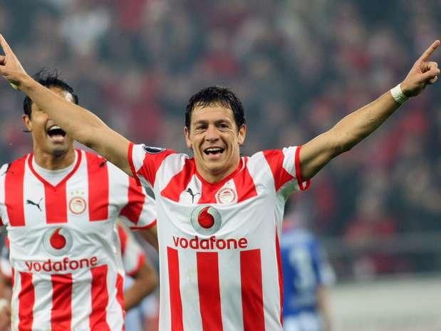Galletti se retiró en el Olympiacos de Grecia, antes jugó para el Atlético de Madrid, Zaragoza, Napoli y Estudiantes. Foto: AFP