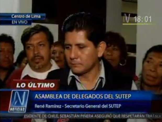 René Ramírez, secretario general del Sutep. Foto: Canal N