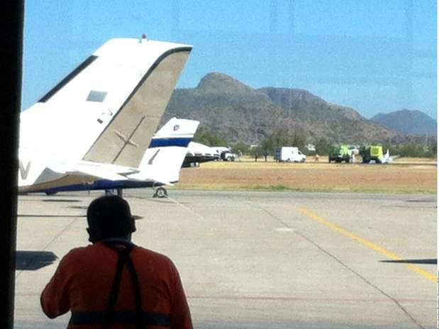 Aterrizaje de emergencia Foto: Agencia Reforma