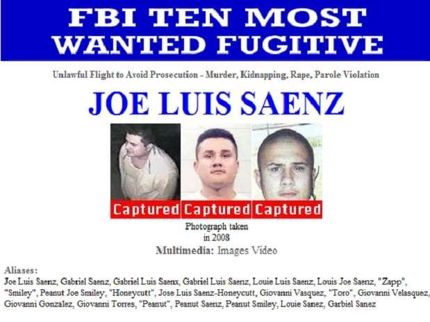 José Luis Sáenz, de 38 años de edad, es sospechoso de un triple homicidio cometido en 1998. Foto: Reproducción